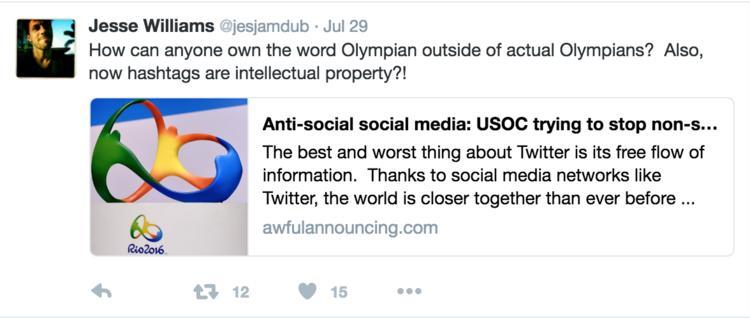 如果你是个品牌,你还真不能随便在网上谈奥运,会侵权